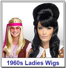 1960s Hippy Ladies Wigs