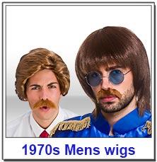1970s Disco Mens Wigs