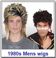 1980s Pop Mens Wigs