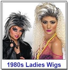 1980s Pop Ladies Wigs