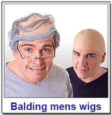 Bald Caps and Balding Mens Wigs