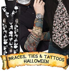 Halloween Braces, Ties & Tattoos