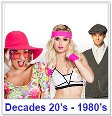 Decades 20's - 80's
