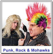 Punk and Rock Mens wigs