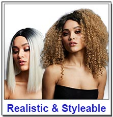 Realistic & Styleable Wigs