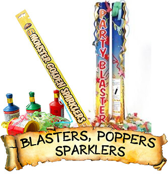 Confetti Cannons, Poppers and Sparklers