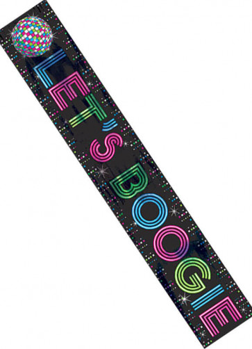 70s and 80s Let's Boogie Banner