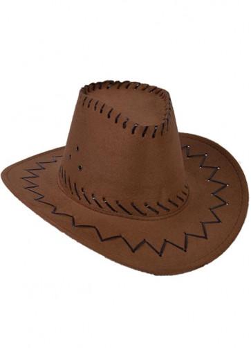 Brown Stitched Cowboy Hat