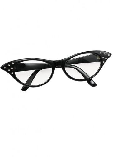 50s Black Poodle Glasses