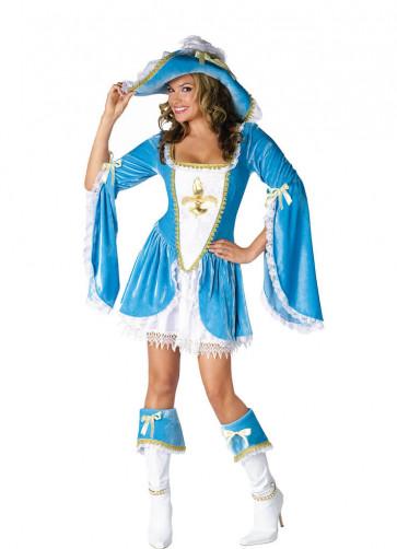 Madam Musketeer (Blue) Costume