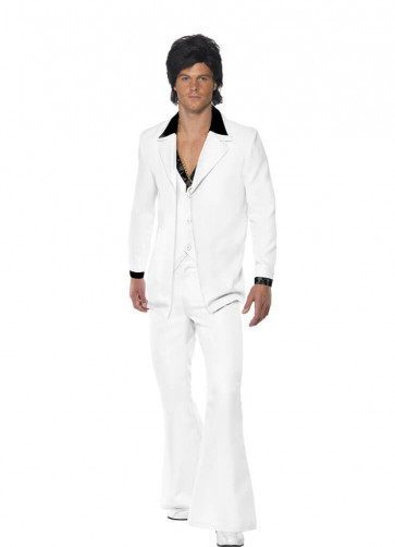 White 1970s Disco-Singer Suit - Mojo Man