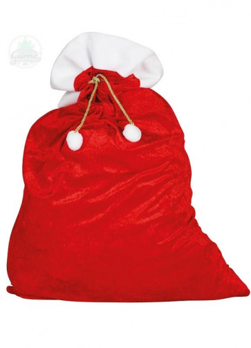 Velour Santa Sack with Gold Tie - 60cm x 95cm