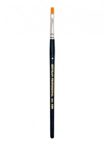 Kryolan Professional Torey Flat Brush #4