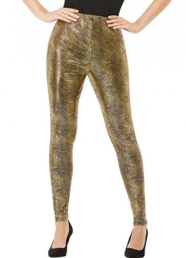 80s Gold Dragon Scale Leggings