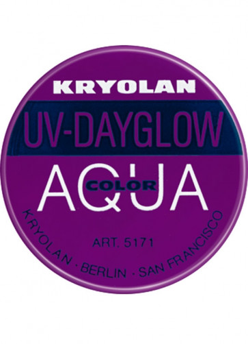 Kryolan UV-Day Glow Aquacolor Make-Up Body Paint - Purple 8ml