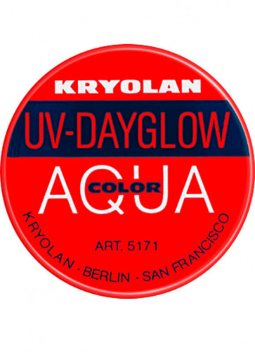 Kryolan UV-Day Glow Aquacolor Make-Up Body Paint - Red 8ml