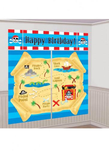 Kids Pirate Treasure Map Wall Decoration - Scene Setter