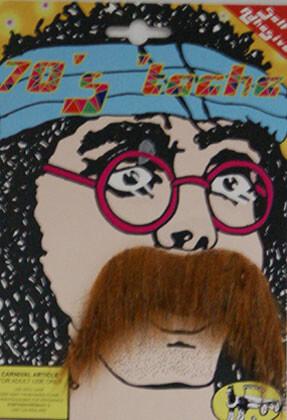 70s Dark Ginger Moustache