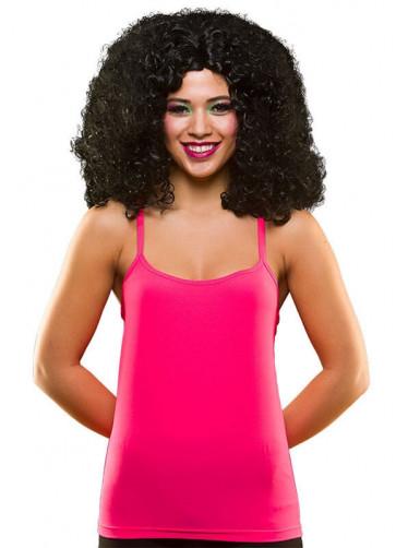 80s Vest Top Neon Pink
