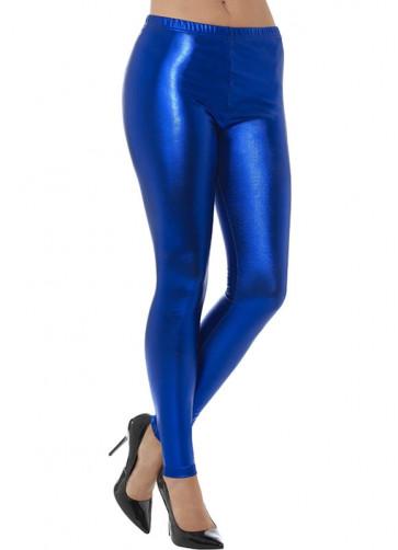 80's Blue Disco Leggings