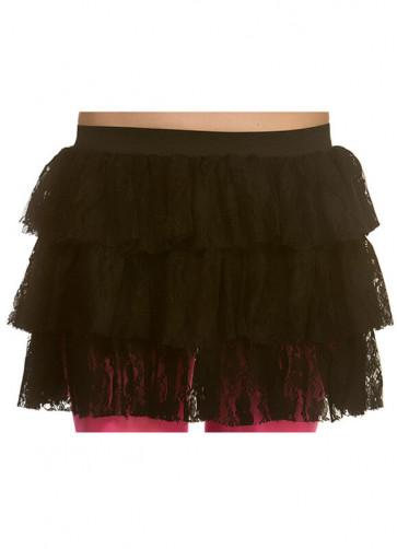 80's Lacy Ra Ra Skirt Black