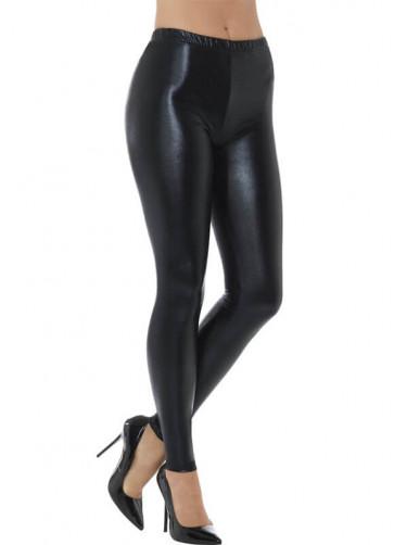 80's Black Disco Leggings