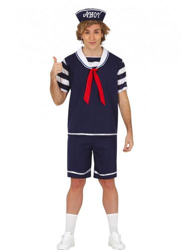 80s Ice-Cream Sailor Mens Costume