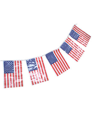 "United States - USA - Plastic Bunting 23ft in length - Flag size 8""x12"""