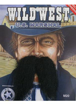 U.S. Marshal Moustache Dark Brown