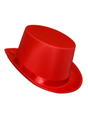 Top Hat (Satin Red)