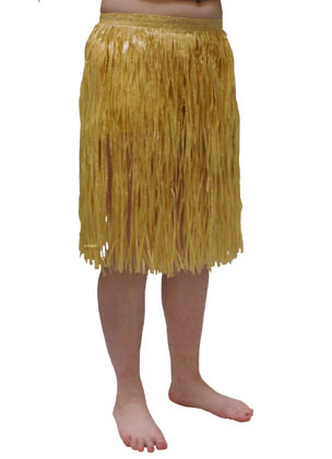 Hawaiian Short Plain Grass Skirt