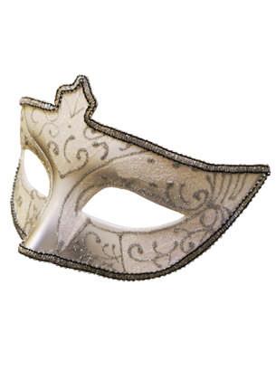 Sophie Eye Mask - Golden Cream with Mint Glitter