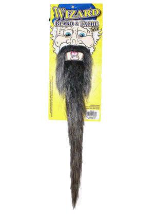 Prof Wizard Beard & Tache Set (Grey)