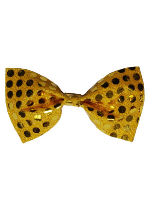 Bow-Tie Gold Sequin