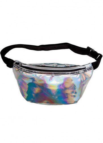 """Bumbag – Holographic Silver - up to 48"""" Waist"""