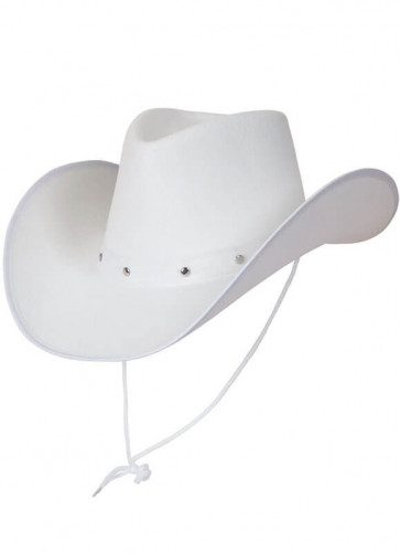 Texas White Studded Cowboy Hat