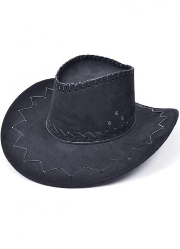 Cowboy Hat (Stitched Black)