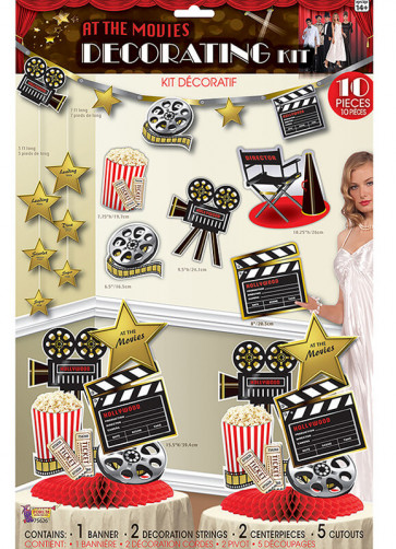 At the Movies 10 Piece Decorating Kit