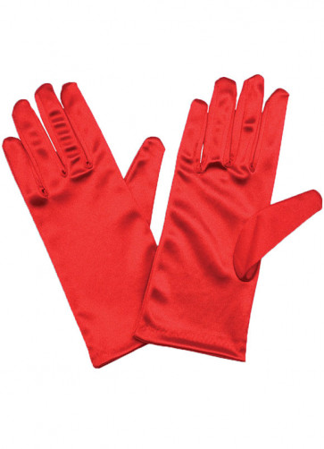 "Red Satin (9"") Gloves"