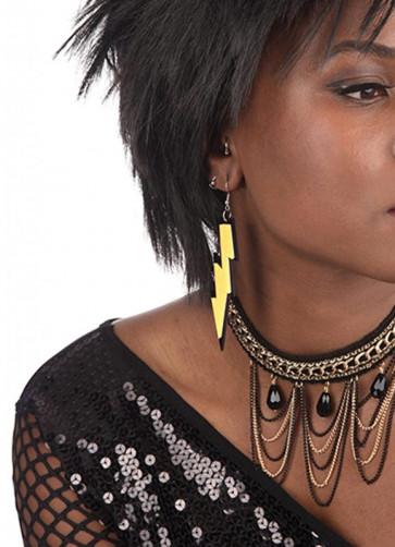 80s Rave Earrings - Yellow