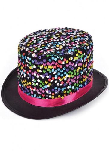Rainbow Top Hat - Sequin