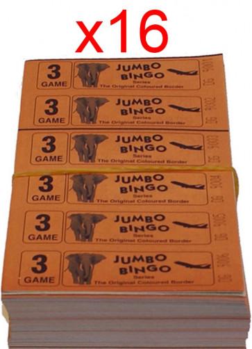 BINGO: 3 Game - 1 Carton - 16 Bundles