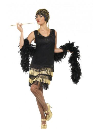 Fringed Flapper - Gold - Costume
