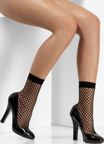 80s Black Fishnet Socks