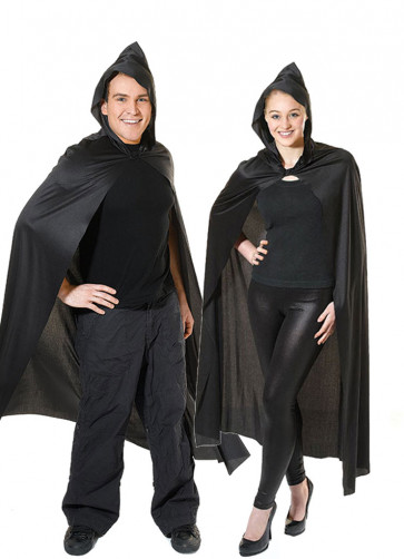 Hooded Cape Black