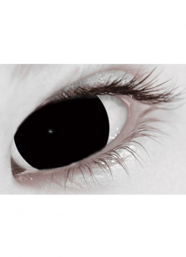 Black Mini Sclera Contact Lenses (17mm) One Day Wear