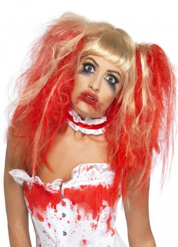 Blonde / Red Blood Drip Wig