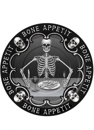 Bone Appetit Small Paper Plate 18cm - 8pk