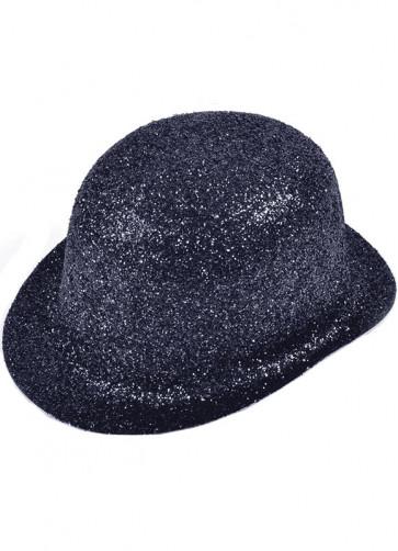 Black Glitter Bowler (Basic)