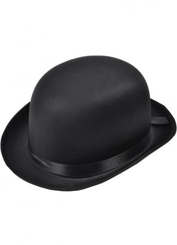 Bowler Hat Black (Satin)